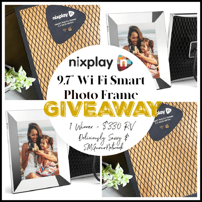 "Nixplay 9.7"" Wi-Fi Smart Photo Frame #Giveaway Enbds 5/25 @nixplaycloud @deliciouslysavv"