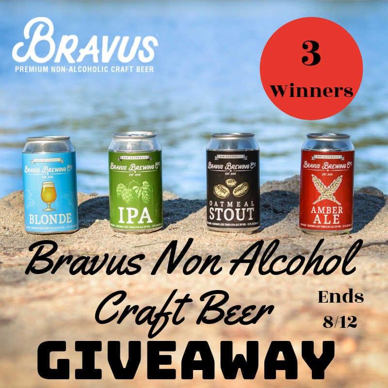 Bravus Non Alcohol Craft Beer #Giveaway 3 Winners Ends 8/12 @las930 @bravusbrewco
