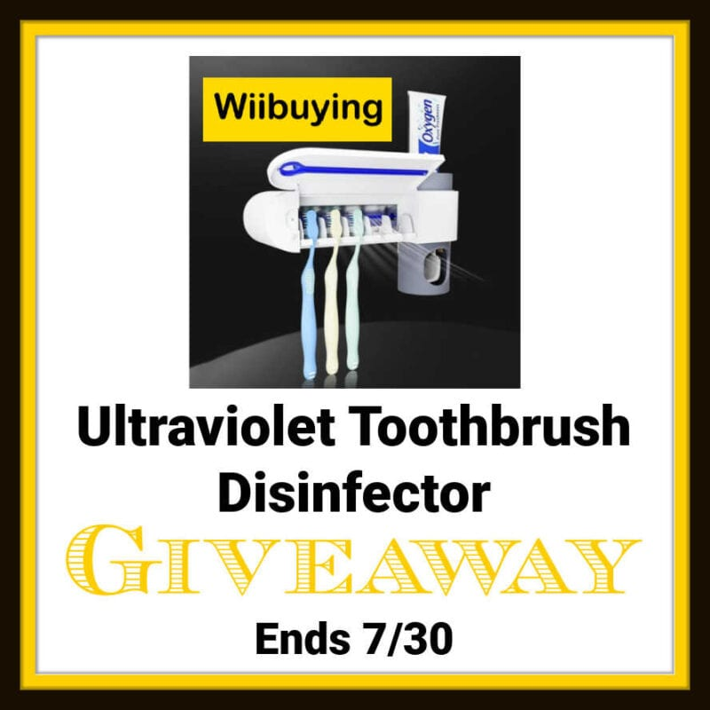 Ultraviolet Toothbrush Disinfector #Giveaway Ends 7/30 @las930 @wiibuying