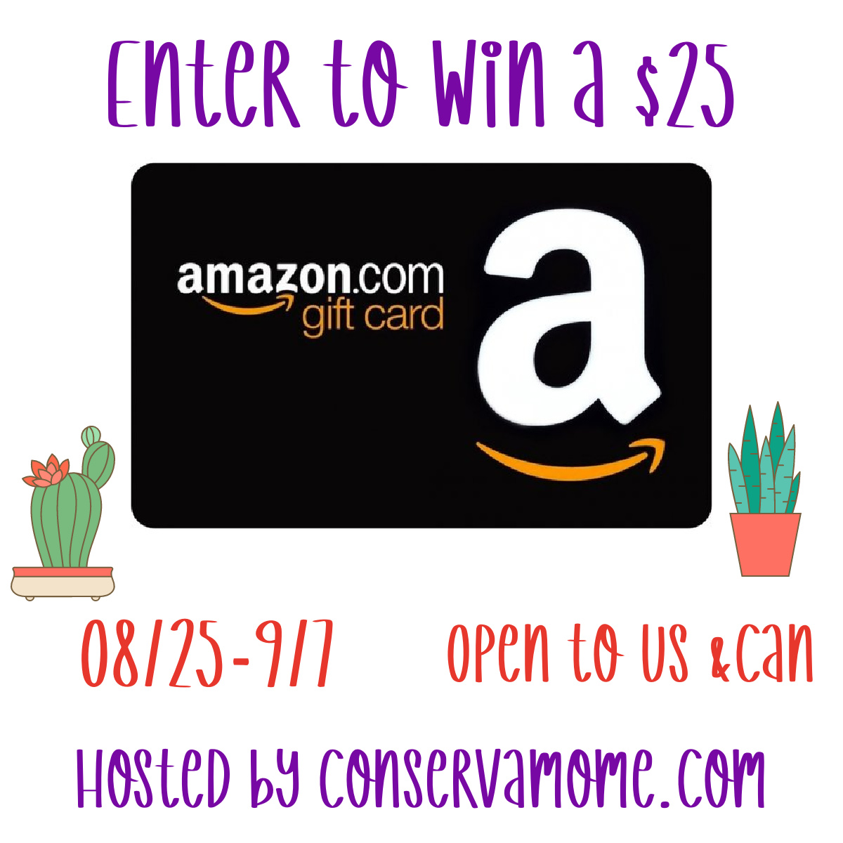 Enter to win a $25 Amazon Gift Card #Giveaway! @conservamome