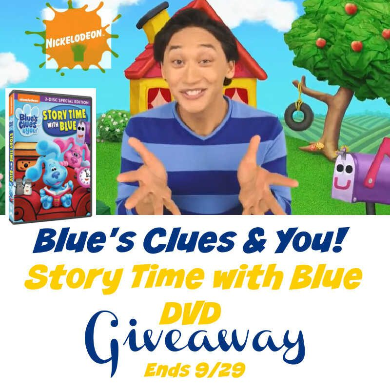 Blue's Clues & You! Story Time with Blue DVD #Giveaway Ends 9/29 @s8r8l33 @Nickelodeon