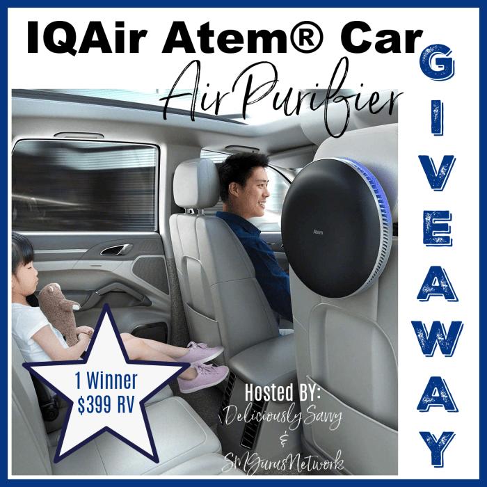 IQAir Atem Car Air Purifier #Giveaway Ends 11/15 @deliciouslysavv @IQAir