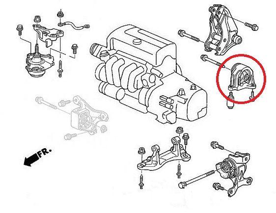 Honda Civic Type R EP3 Vibra Technics Rear Engine Mount