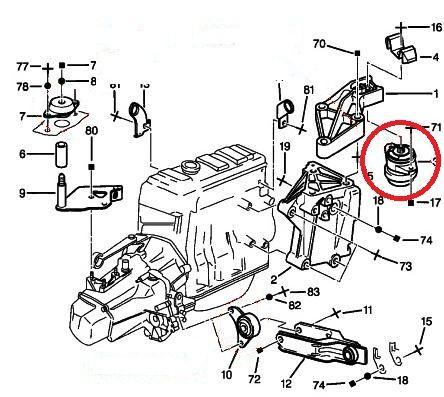 Peugeot 106 (phase 2) Gti Vibra Technics RH Engine Mount