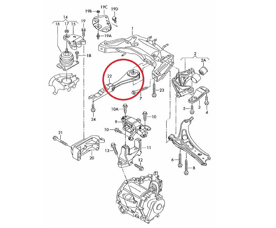 VW Polo 9N 01-09 Vibra Technics Engine Torq Link HeavyDuty