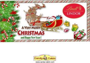 Lindt Christmas Hamper Label The Candy Cabin Traditional Online Sweet Shop