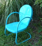 turquoise patio chairs chair bed sleeper sale retro furniture metal glider just like you remember 2 for 159