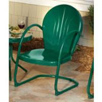 antique lawn chairs ergonomic chair wiki retro patio furniture metal glider just like you remember 2 green motel 159