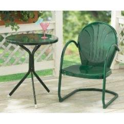 Old Fashioned Metal Lawn Chairs Bar Height High Chair Vintage Furniture Creating Tranquility One Backyard At A Time Retro Side Table And