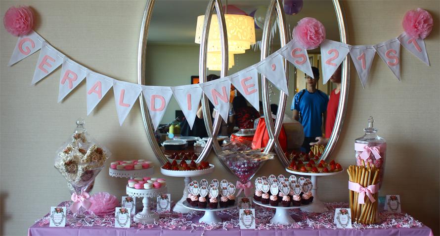 JOandJARS_CandyBuffet_21stBirthday_MarinaBaySands_MBSHotel_SandsSuite_Pink