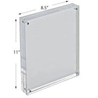 "Block Sign Holder / Frame 11"" | Acrylic Display Sign"