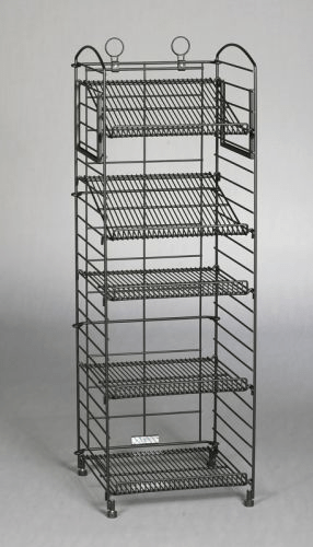 Folding Wire Rack Rack  5 Adjustable Shelves  Bronze