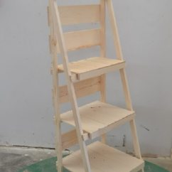 Large Wicker Chair Stand Up Chairs Foldable Wooden Display Ladder | Wood Retail