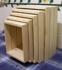 Wood Nesting Crates | 5 Wood Crate Set | Wooden Crates