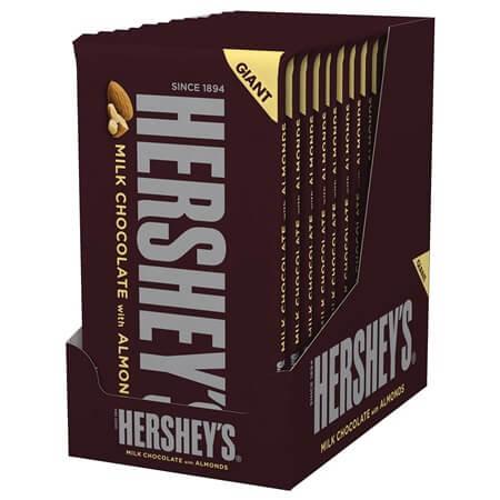 Giant Hershey Milk Chocolate Almonds  Milk Chocolate  Nuts