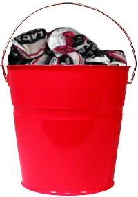 Colored Metal Bucket  2 Quart Bucket  12 Pack of Pails
