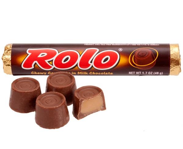 Rolo Bar  Hersheys Brand Caramel  Chocolate Caramel Candy