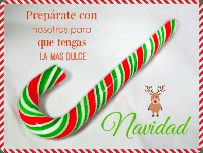 Bastones de caramelo para Navidad