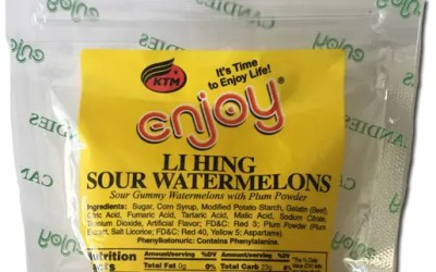 Enjoy Li Hing Sour Watermelons: So good we reviewed them twice.