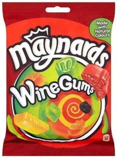 Maynards Wine Gums package