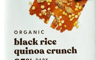 Theo Fair Trade Chocolate: Black Rice & Quinoa Crunch
