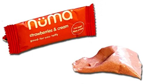 Nüma strawberry and cream mini package and candy