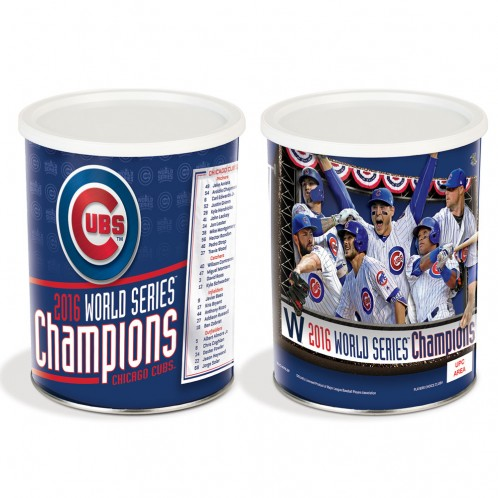 1 Gallon WORLD SERIES CHAMPIONS Chicago Cubs Popcorn Tin