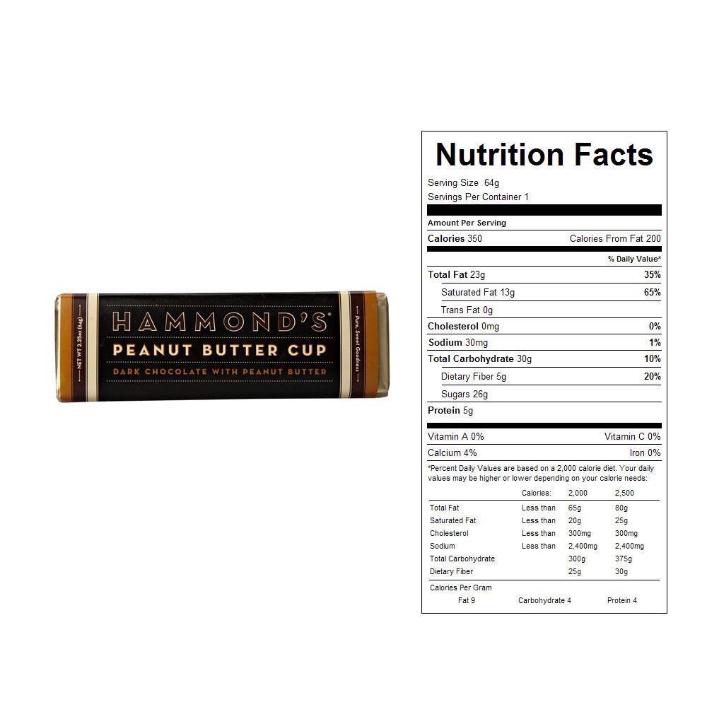 Buy Hammond's Peanut Butter Cup Dark Chocolate Candy Bars