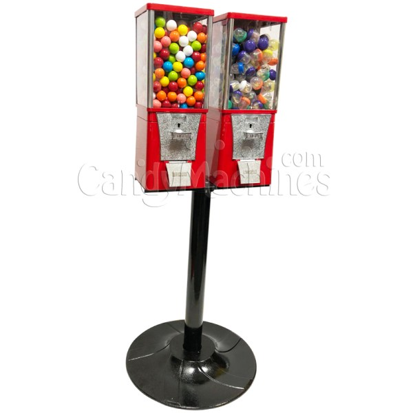 Eagle Two Head Metal Bulk Vending Machine With Stand - Supplies
