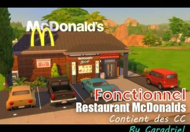 restaurant fonctionnel mcdonalds les sims 4