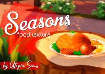 ▷ Nouveaux Design de Plats de l'extension Saisons par Utopia Sims