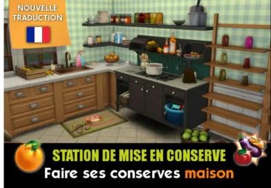mod Station de mise en conserve Sims 4