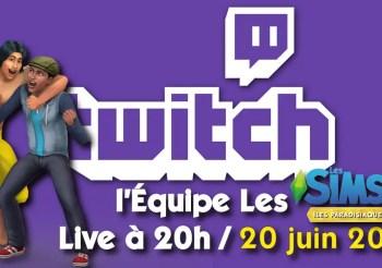Live sur Twich – Les Sims 4 Îles Paradisiaques