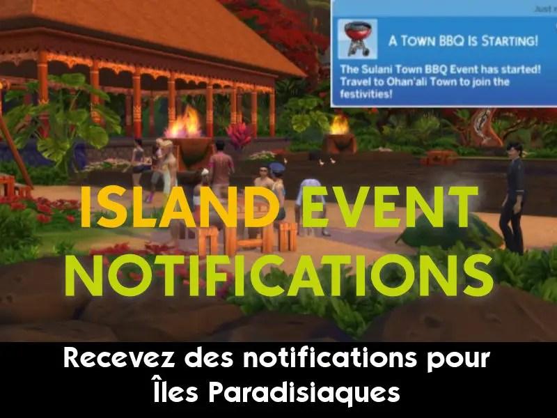 ▷ Notifications d'Événements pour 'Îles Paradisiaques' par Scarlet