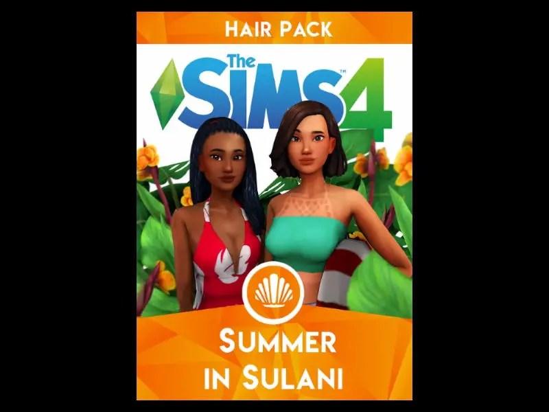 Pack de Coiffures Maxis Match Sulani de Wild-Pixel et Fivesim