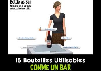 ▷ 15 Bouteilles Utilisables Comme un Bar par ATS4