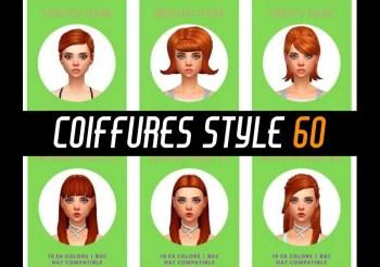 ▷ Coiffures Style Années 60 par Simduction