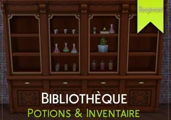 ▷ Bibliothèque pour Potions et Inventaire par Cinderellimouse