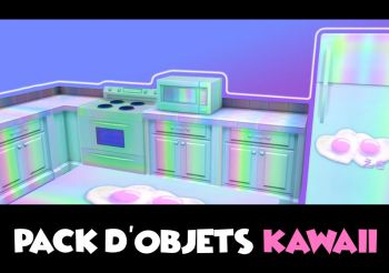 ▷ Pack d'Objets Kawaii par KawaiiStacie
