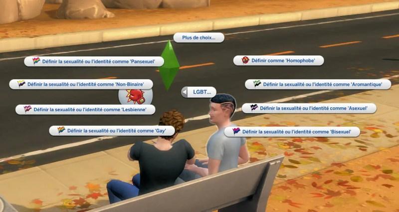 communauté LGBT sims 4