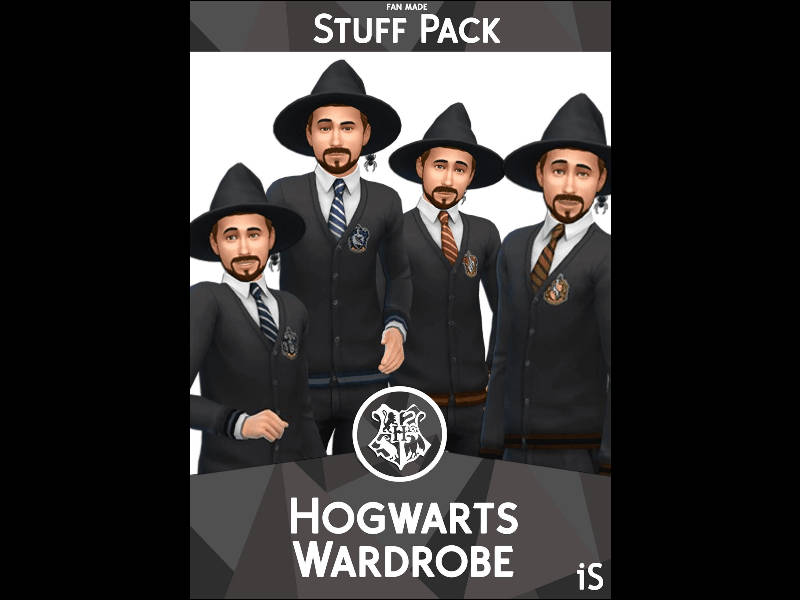 ▷ Pack de Vêtements Maxis Match Poudlard Harry Potter par iSandor