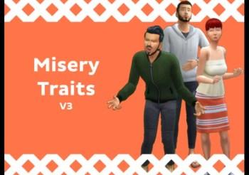 """▷ Pack de 11 Traits Pour les Sims """"Misery Traits"""""""