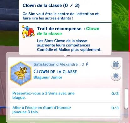 aspiration clown les sims 4