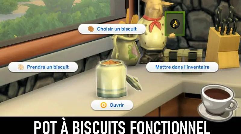pot à biscuit fonctionnel Sims 4