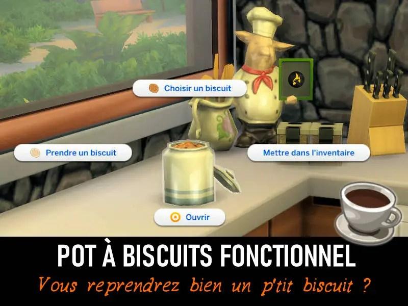 ▷ Pot à Biscuits fonctionnel pour Les Sims 4