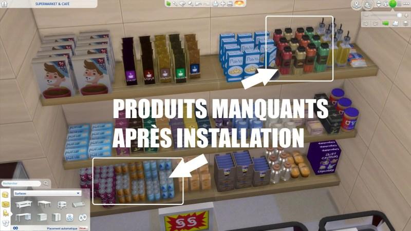 supermarché sims 4