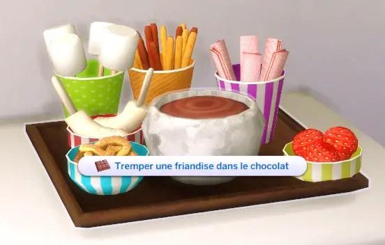 mod fondue au chocolat Sims 4