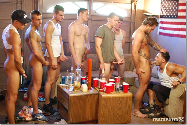 fraternity X - 8 Dude GangBang