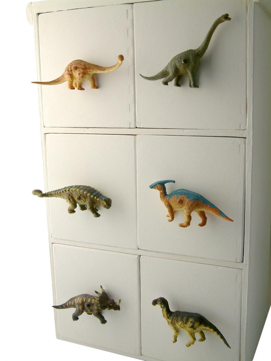 Childrens Dinosaur Cupboard or Drawer Knob  Raptor