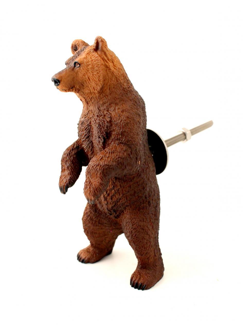 BIG Bear Cupboard Knob  Grizzly Brown Bear Standing